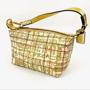 COACH mini gold graffiti shoulder purse